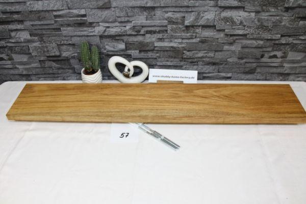 Wandboard Eiche massiv Breite 99 cm / 17 cm Tiefe