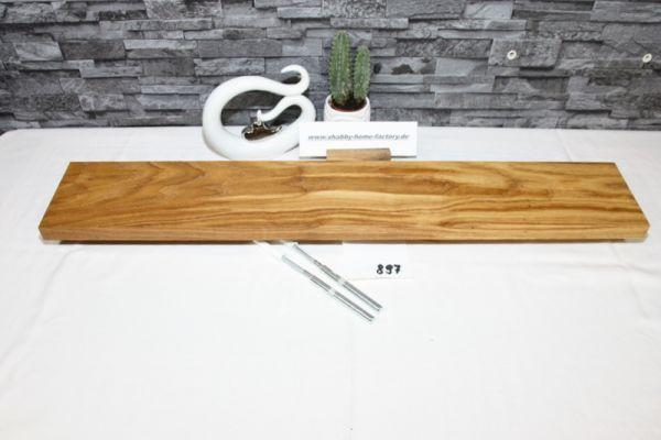 Wandboard Eiche Breite 83 cm / 13,5 cm Tiefe rustikal