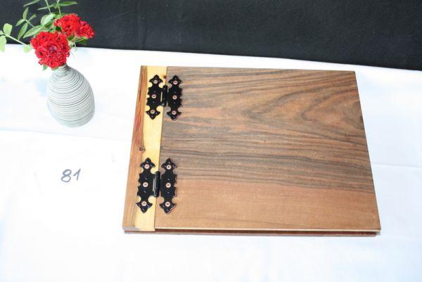 Holzbuch Gastgeschenk Gästebuch aus Holz Hochzeit #81