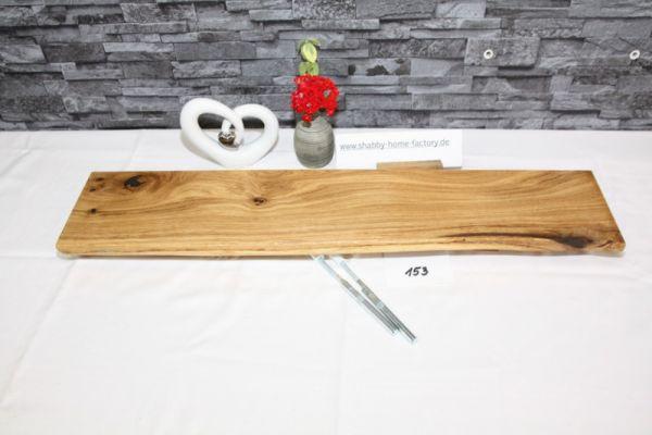 Wandboard 75 cm Eiche massiv Baumkante