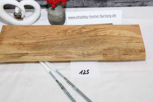 Wandboard Eiche massiv Baumkante 46 cm geölt