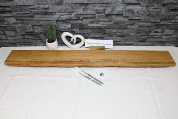 Wandboard Eiche massiv 100 cm B x 12 cm T
